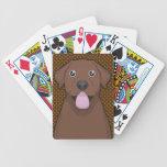 Labrador Retriever (Chocolate Lab) Cartoon Paws Bicycle Card Deck