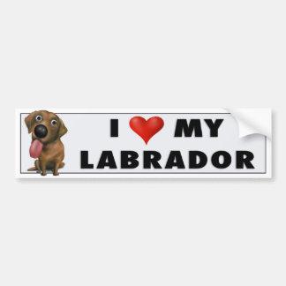 Labrador Retriever (Chocolate) Love Sticker