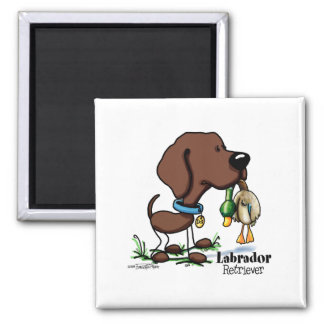 Labrador Retriever - Chocolate 2 Inch Square Magnet