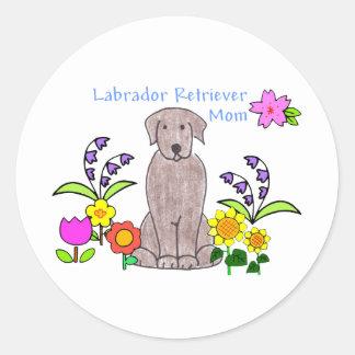Labrador Retriever Chocolate Mom Sticker