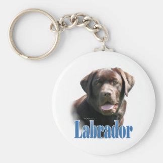 Labrador Retriever (chocolate) Name Key Chains