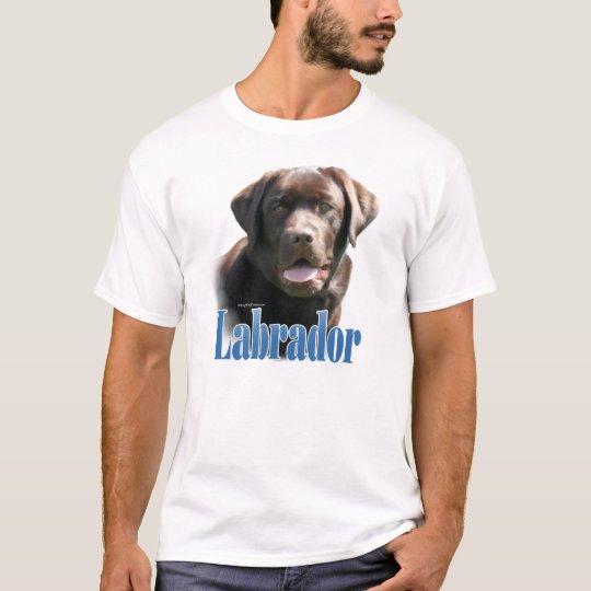 Labrador Retriever (chocolate) Name T-Shirt