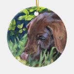 Labrador Retriever Chocolate Christmas Tree Ornaments