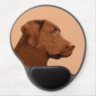 Labrador Retriever (Chocolate) Painting - Dog Art Gel Mouse Pad
