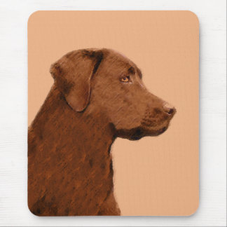 Labrador Retriever (Chocolate) Painting - Dog Art Mouse Pad