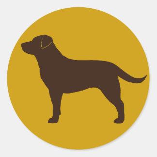 Labrador Retriever (Chocolate) Classic Round Sticker