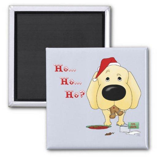 Labrador Retriever Christmas 2 Inch Square Magnet