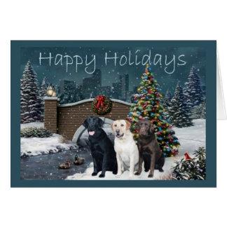 Labrador Retriever  Christmas Card Evening11