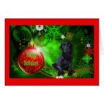 Labrador Retriever  Christmas Card Red Ball11