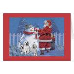 Labrador Retriever  Christmas Card Santa Snowman8