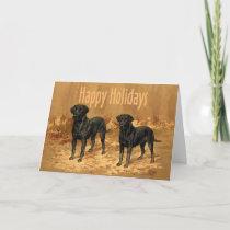 Labrador Retriever Christmas Card Vintage