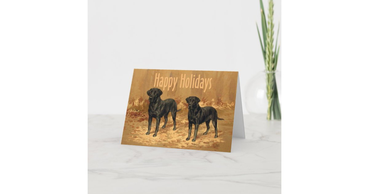 Labrador Retriever Christmas Card Vintage | Zazzle.com