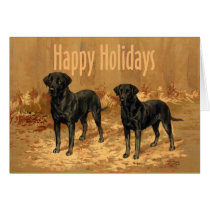 Labrador Retriever Christmas Card Vintage