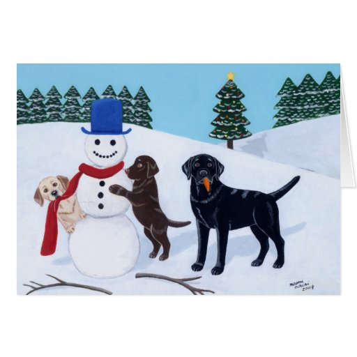Labrador Retriever Christmas Cards