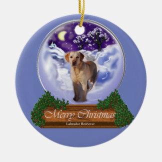 Labrador Retriever Christmas Ceramic Ornament