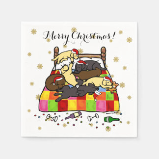 Labrador Retriever Christmas Eve Napkins