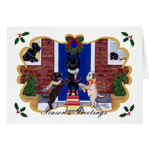 Labrador Retriever Christmas Fun Card