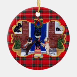 Labrador Retriever Christmas fun Christmas Ornaments