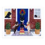 Labrador Retriever Christmas Fun Postcard
