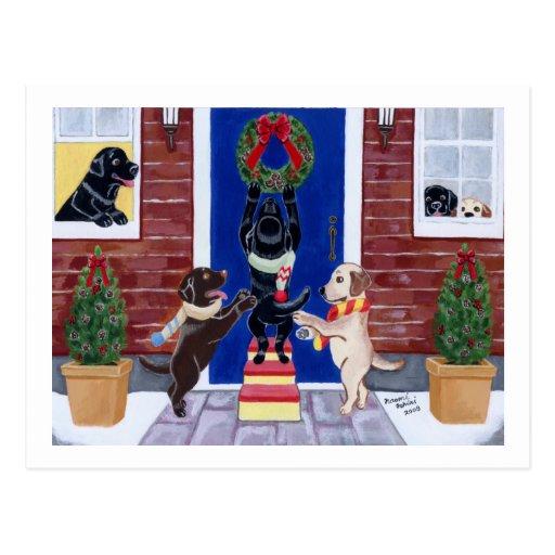 Labrador Retriever Christmas Fun Postcards
