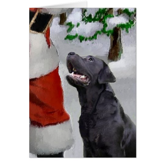 Labrador Retriever Christmas Gifts Card