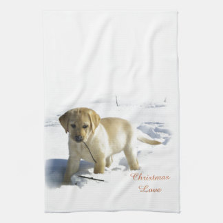 Labrador Retriever Christmas Kitchen Towels