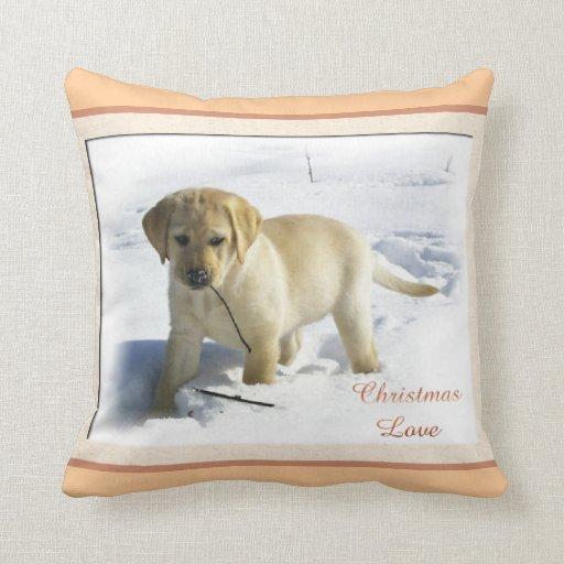 Labrador Retriever Christmas Pillow
