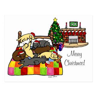 Labrador Retriever Christmas Postcard