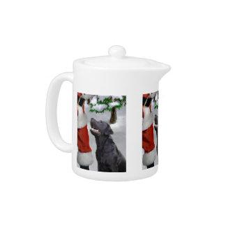 Labrador Retriever Christmas Teapot