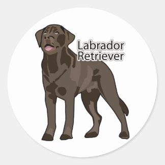 Labrador Retriever Classic Round Sticker