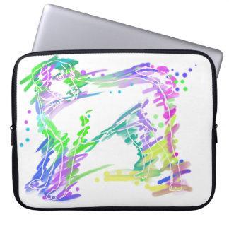 Labrador Retriever colorful pop dog art Laptop Sleeve