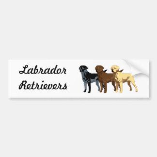 Labrador Retriever colors Bumper Sticker