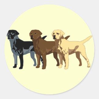 Labrador Retriever colors Classic Round Sticker