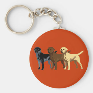 Labrador Retriever colors Keychain