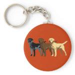 Labrador Retriever colors Keychains