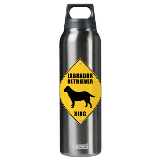 Labrador Retriever Crossing (XING) Sign SIGG Thermo 0.5L Insulated Bottle