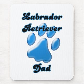 Labrador Retriever Dad Blue Pawprint  Mouse Pad