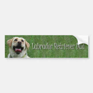 Labrador retriever dad bumper sticker
