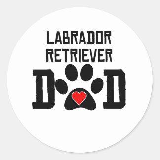 Labrador Retriever Dad Classic Round Sticker