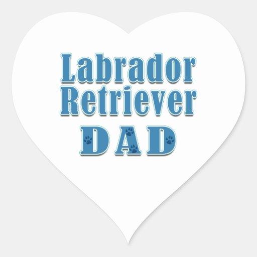Labrador Retriever Dad Heart Stickers