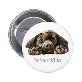 Labrador retriever de encargo - colección del perr pin redondo de 2 pulgadas