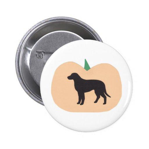 Labrador retriever de la calabaza del feliz Hallow Pin Redondo De 2 Pulgadas