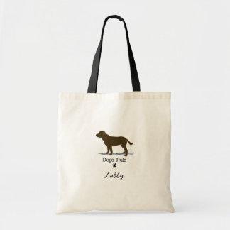Labrador retriever del chocolate bolsa tela barata