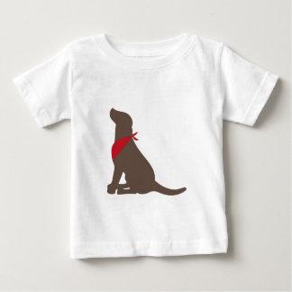 Labrador retriever del chocolate playera