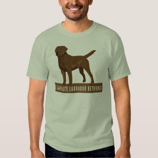 Labrador retriever del chocolate remeras