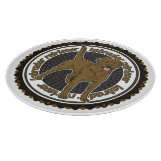 Labrador retriever del chocolate tablas de cortar