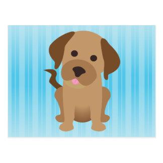 Labrador retriever del chocolate tarjeta postal
