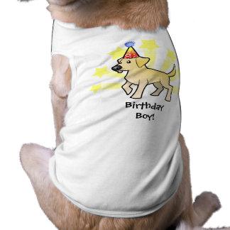 Labrador retriever del cumpleaños playera sin mangas para perro