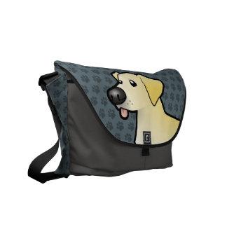Labrador retriever del dibujo animado bolsa de mensajería