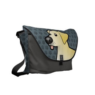 Labrador retriever del dibujo animado bolsas de mensajeria